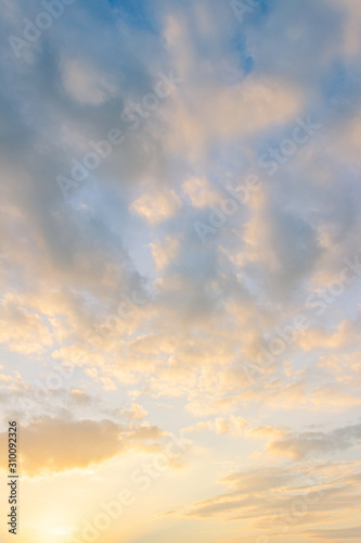 sunset sky with colorful sunshine vertical in the morning  Wall mural