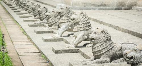 lions statues in Columbo, Sri Lanka Canvas Print