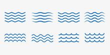 Wave Icon Set. Vector Illustra...