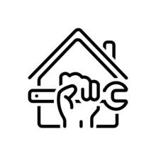 Black Line Icon For Reform