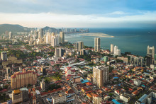 Skyline Of George Town In Penang, Malaysia