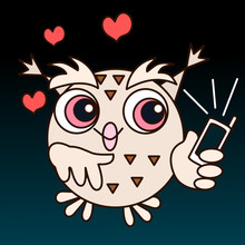 Emoticon With A Cool Owl, Whic...