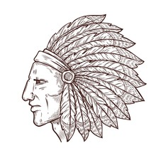 Indian Chief Head And Traditio...