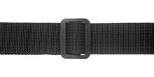 Black Nylon Fastening Belt Isolated On White Background, Close-up.