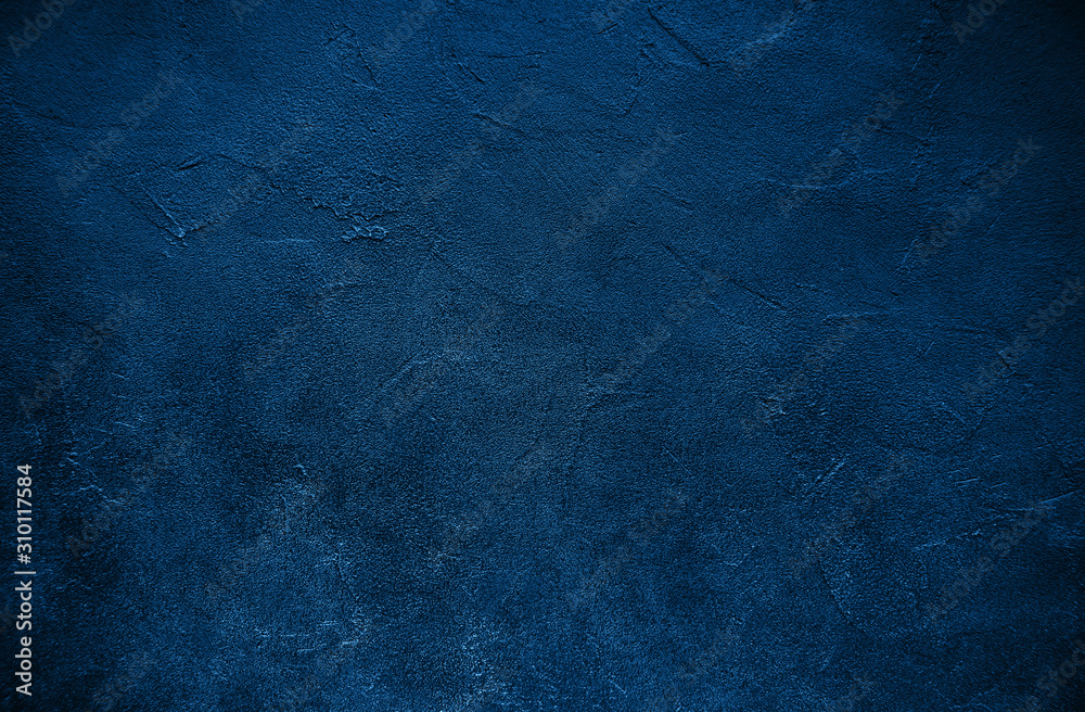 Fototapeta Stone texture toned classic blue color