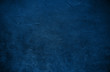 canvas print picture - Stone texture toned classic blue color