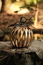 Outdoor Metal Pumpkin Decorati...