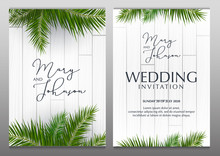 Double Wedding Invitation With...