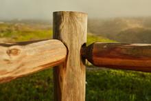 Wooden Cross On Stump