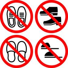 靴、スリッパ禁止のマーク