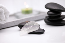 Wellness With Stones And Candl...