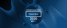 Classic Blue Color Of 2020 Yea...