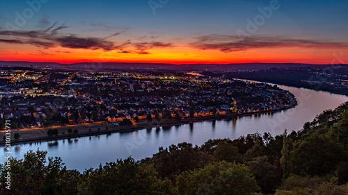 Fotografie, Obraz  Koblenz Festung Ehrenbreitstein Aussicht