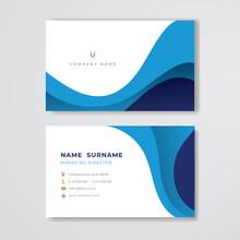Blue Business Card Clean Paste...