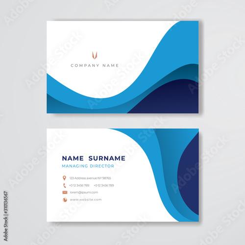 Fotografía  Blue business card clean pastel design template