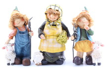 Three Shepherds - Puppets Handmade, Isolated And With Clipping Path