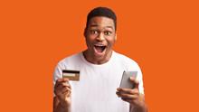 Black Man Holding Credit Card ...