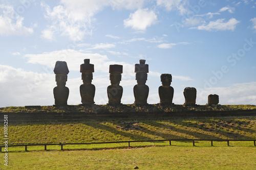 Photo Moai from Ahu Nau Nau at Easter Island