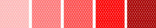 Set Of Beautiful Red Polka Design