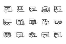 Simple Set Of Caravan Icons In...
