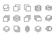 Modern Thin Line Icons Set Of Layers.