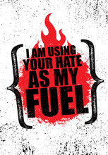I Am Using Your Hate As My Fue...