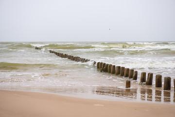 Panel Szklany 3D Baltic sea shore