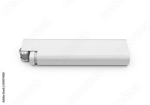 Blank lighter for design presentation, mock up template on isolated white background, 3d illustration Wallpaper Mural