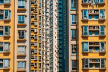 Building Facade, Highrise Building Exterior, Hong Kong -