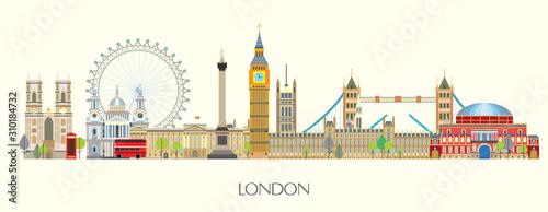 Fototapeta London skyline vector 7 obraz