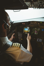 Pilot Flying An Airplane