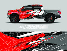 Pick Up Wrap Design Vector. Gr...