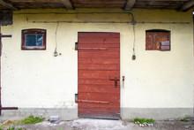 Old Wooden Door To The Rural O...