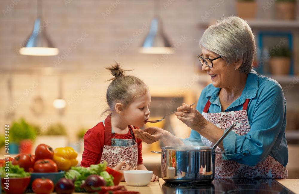 Fototapeta Homemade food and little helper