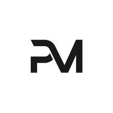 PM Letters Initial Logo Design...