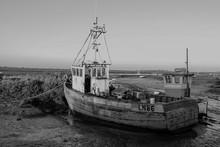 Monochrone Fishing Boat