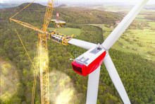 Wind Turbine Tower Under Const...