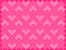 Pink Chevron, Herringbone L Shape, Zigzag Pattern On Pink Background Vector.