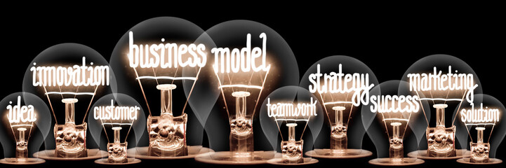 Light Bulbs with Business Model Concept