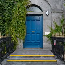 Blue Door Of Bank Building, Ga...