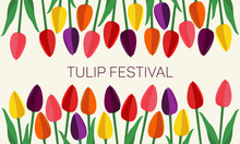 Multi-colored Tulips Of Simple...