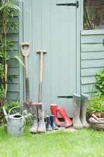 Gardening Tools By Garden Shed