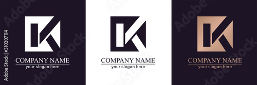 Letter K V logo or monogram Wallpaper Mural