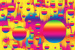 canvas print picture - An abstract psychedelic background image.