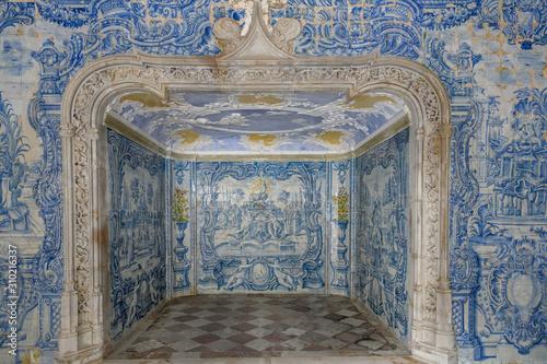 Interiors of Sintra National Palace, Sintra, Lisbon, Portugal Canvas Print