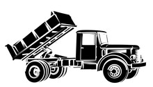 Sketch Of The Big Old Dump Truck.