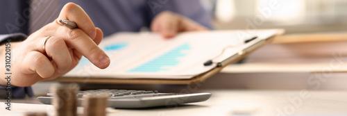 Cuadros en Lienzo Booker Calculate Finance Budget Tax Report Concept