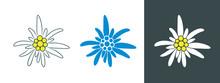 Edelweiss Logo. Isolated Edelw...