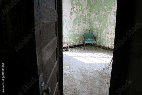 Photo Abandoned mental asylum psychiatric hospital