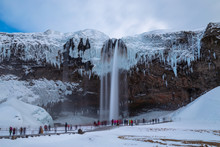 Iceland Seljalandsfoss Waterfa...